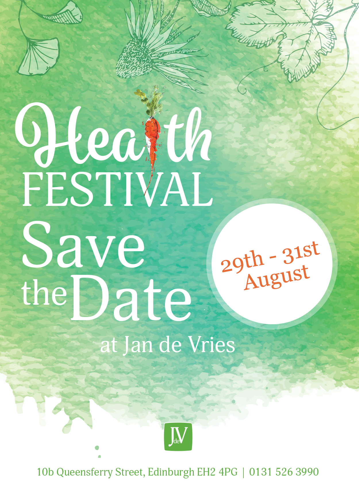 JAN DE VRIES HEALTH FESTIVAL - Edinburgh
