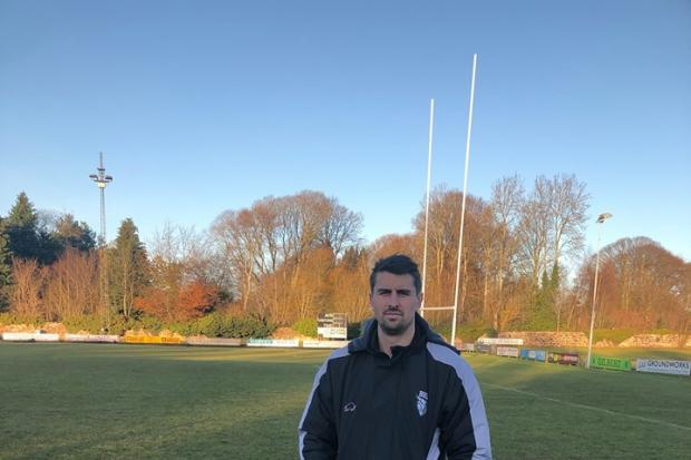 Ayr coach Peter Murchie at Millbrae on Saturday.