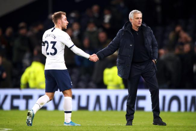 Jose Mourinho, right, is planning to use Christian Eriksen this weekend