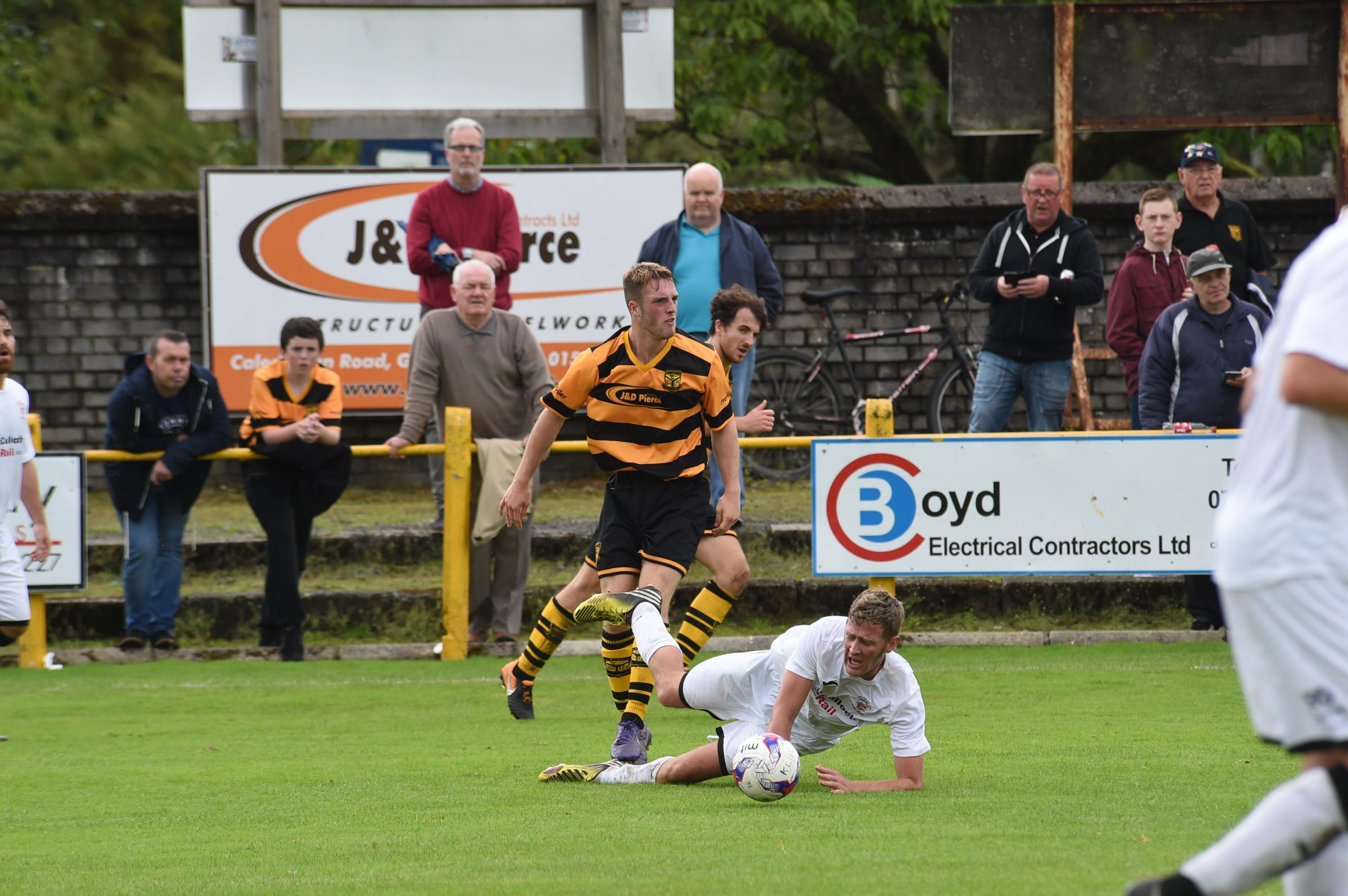 Girvan, pictured in action against Kilbirnie last month, face a testing game away to Pollok on Saturday.