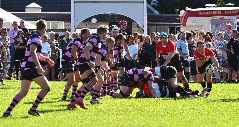 UNDER PRESSURE: Hawks attack against Ayr. Picture by George McMillan.