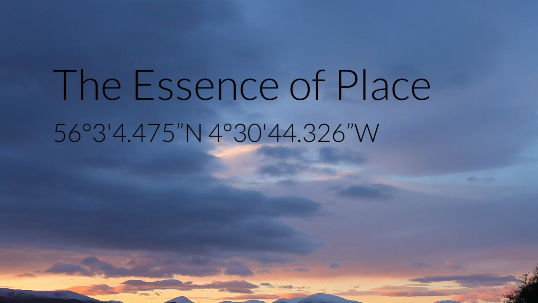The Essence of Place: An open air screening by candlelight