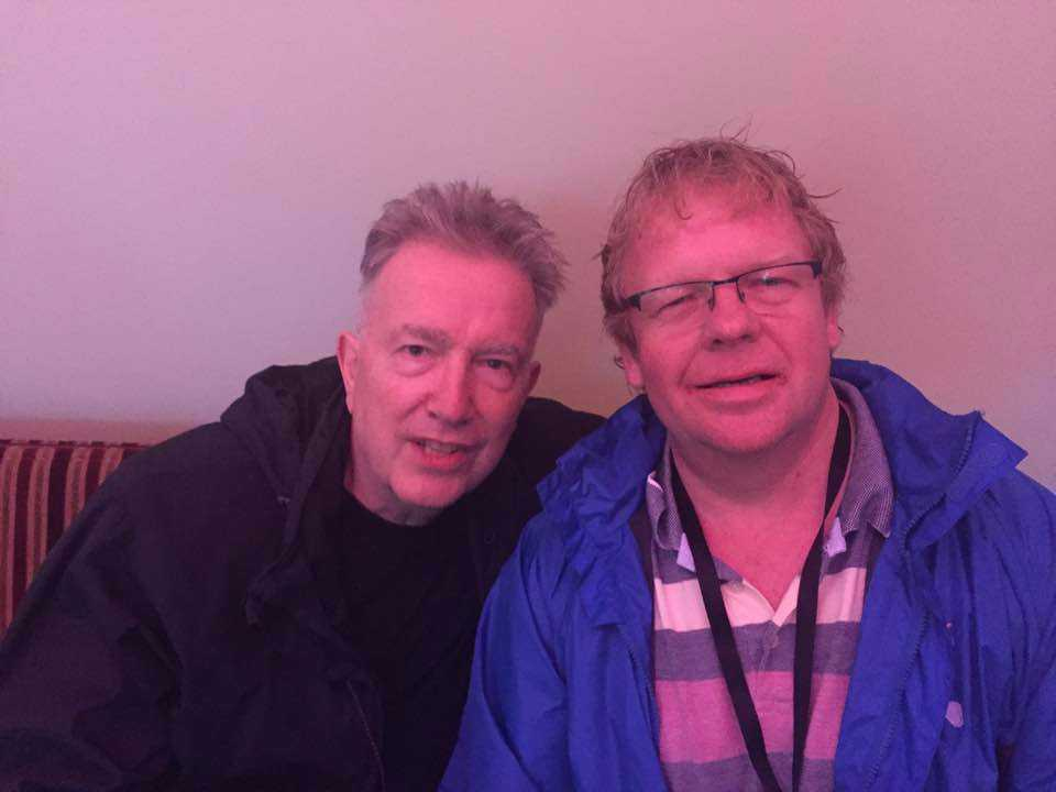 PUNK ICON: Tom Robinson (left) with reviewer Stewart McConnell.