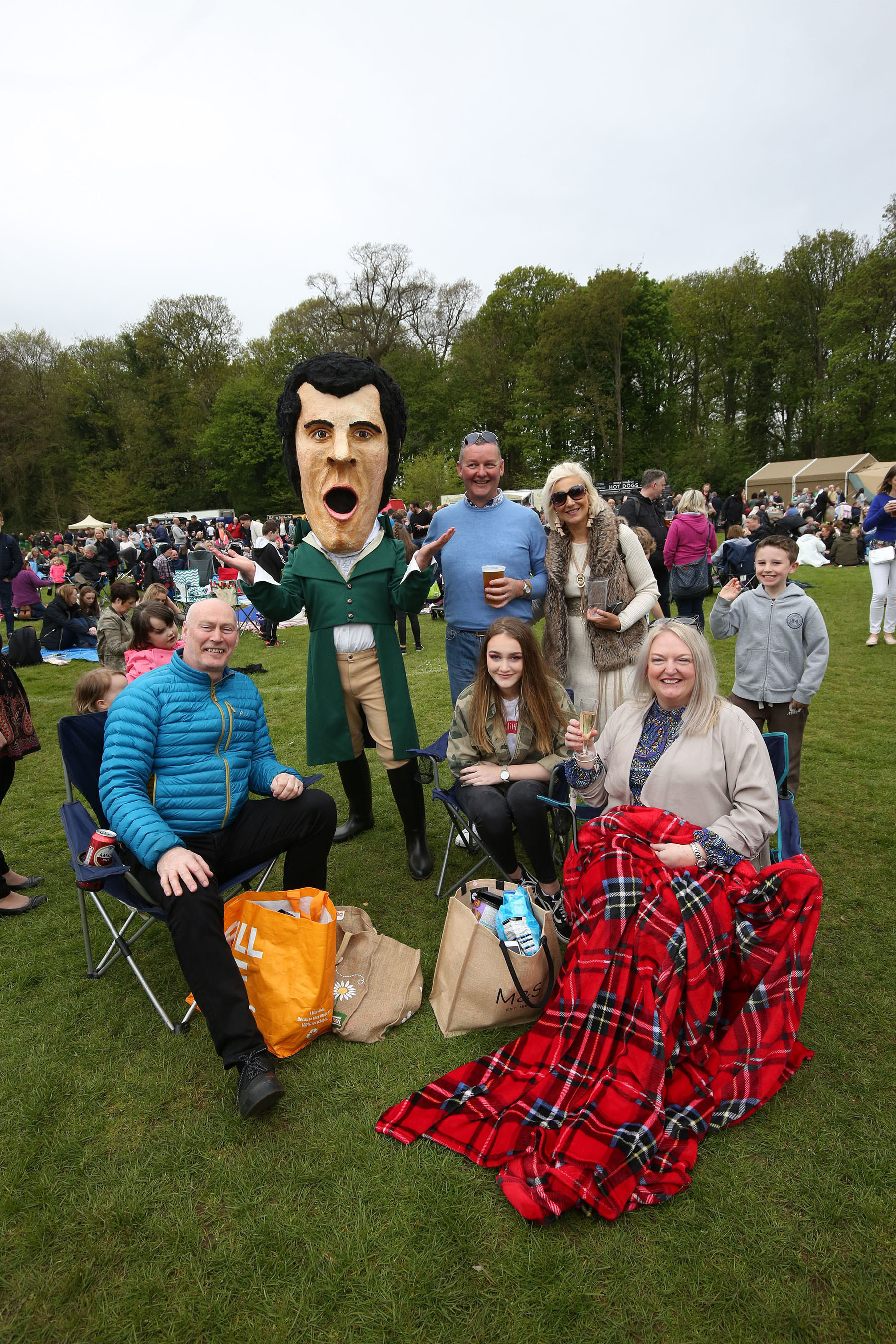 Picnic in the park at the brilliant 2018 Burnsfest