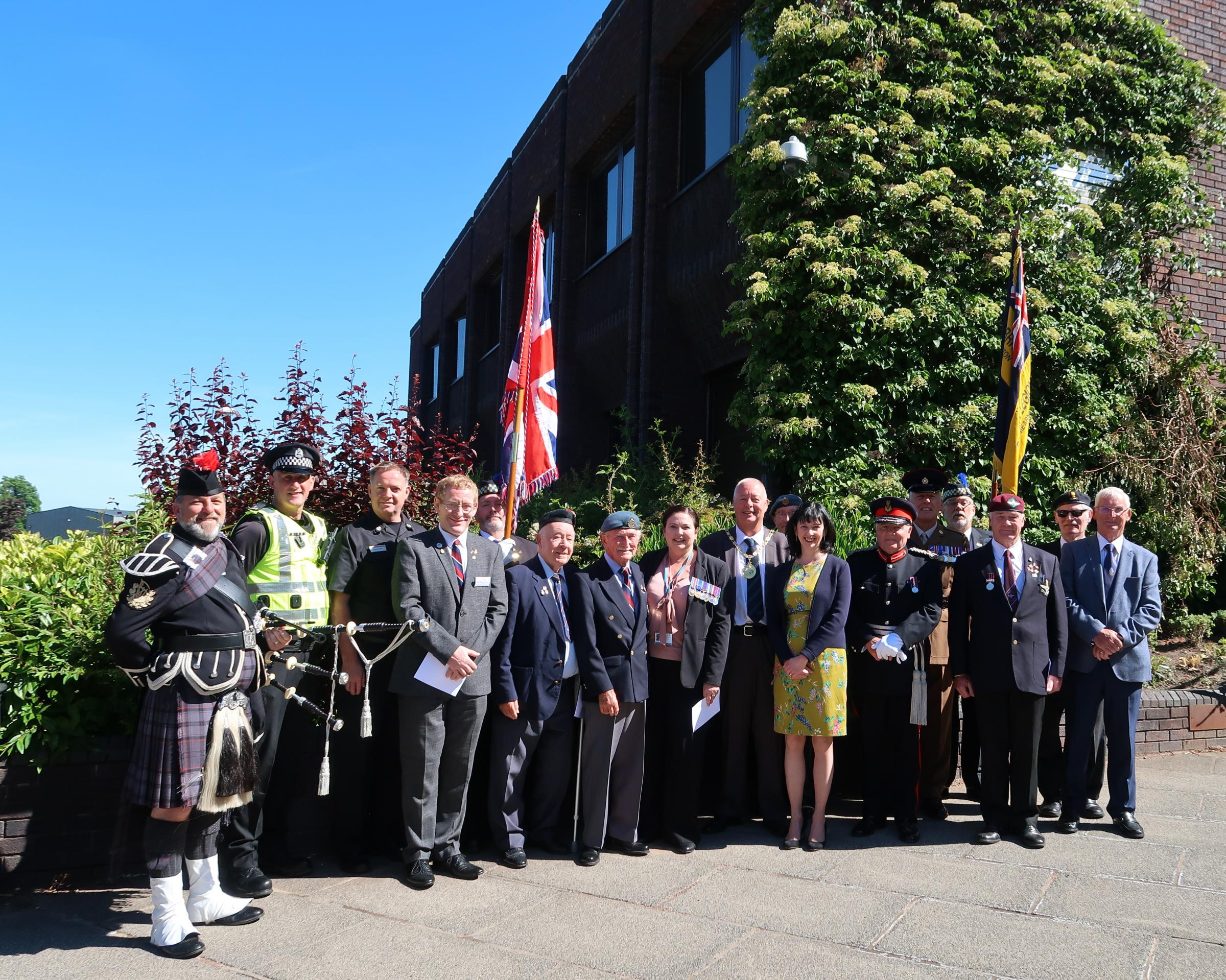 Girvan gives thanks to Armed Forces
