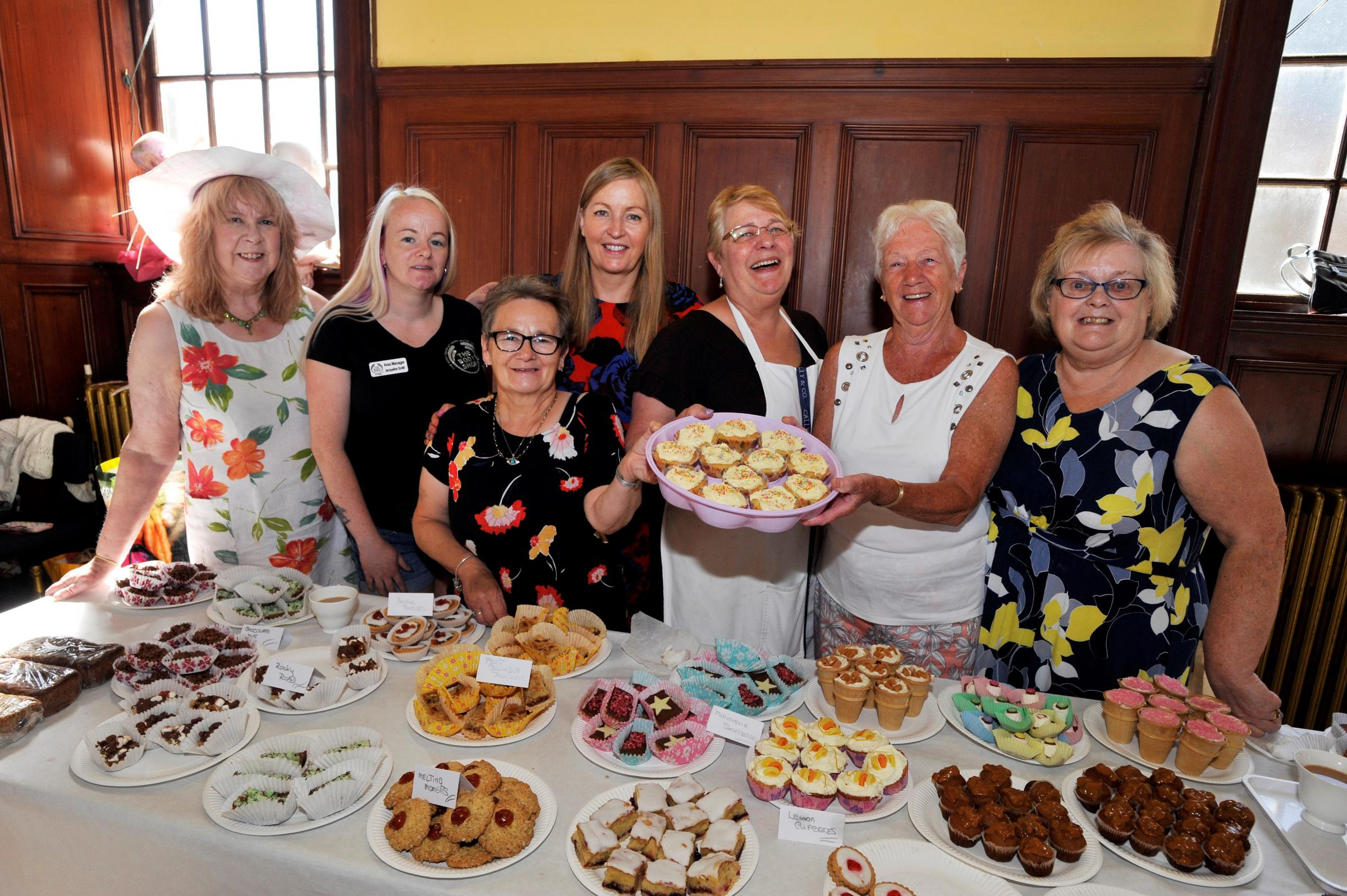 TEMPTING FARE: A wide range of cakes were on offer at the Old Parish church fayre.