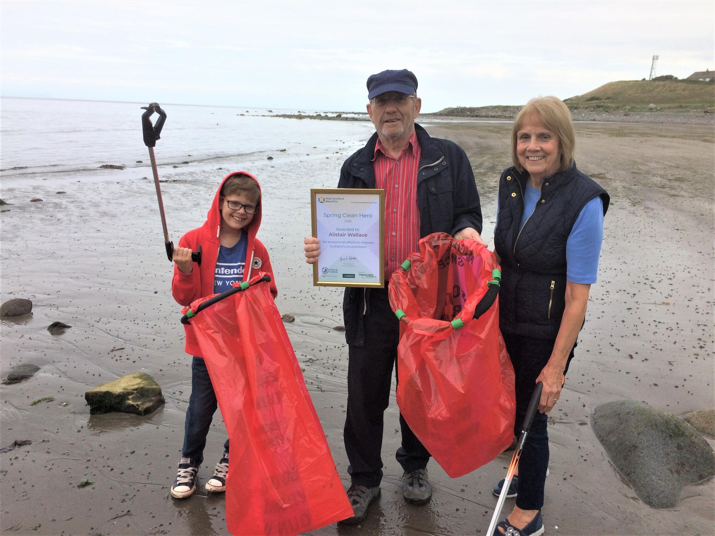 Girvan man cleans up with award
