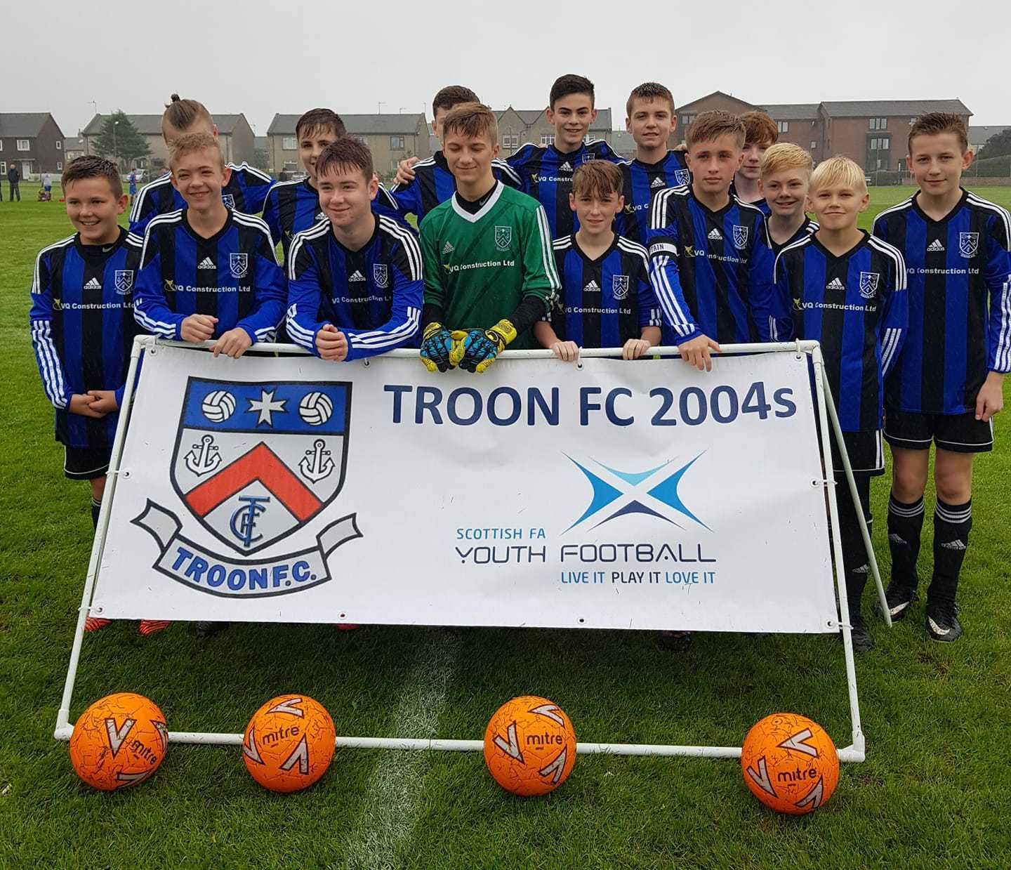 CAMERA CALL: Troon 2004s line up before the game.