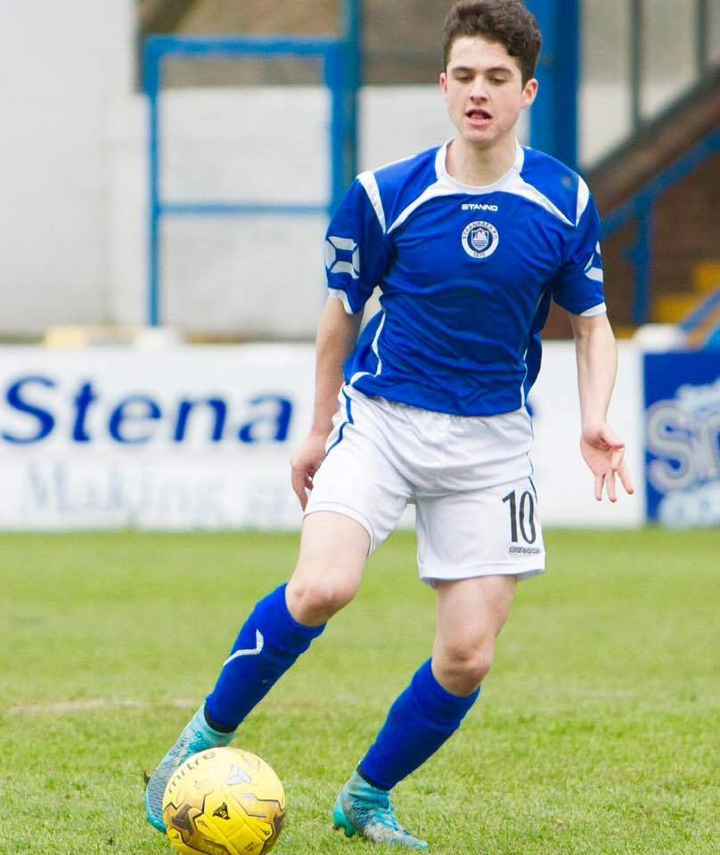 INJURY BLOW: Troon midfielder Evan Maley, pictured in action for previous club Stranraer.