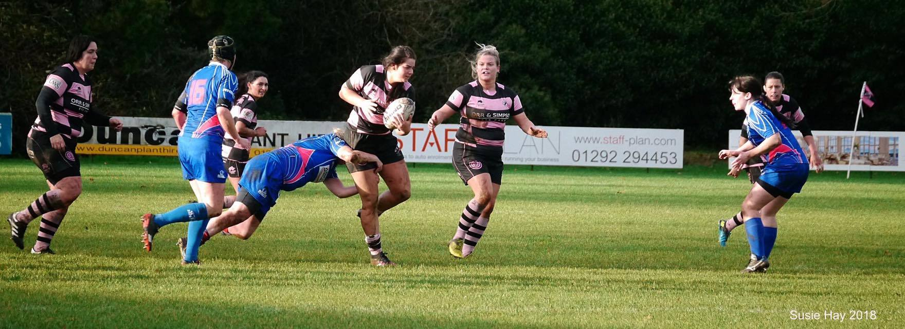 GREAT WIN: Ayr Ladies were in command. Picture: Susie Hay.