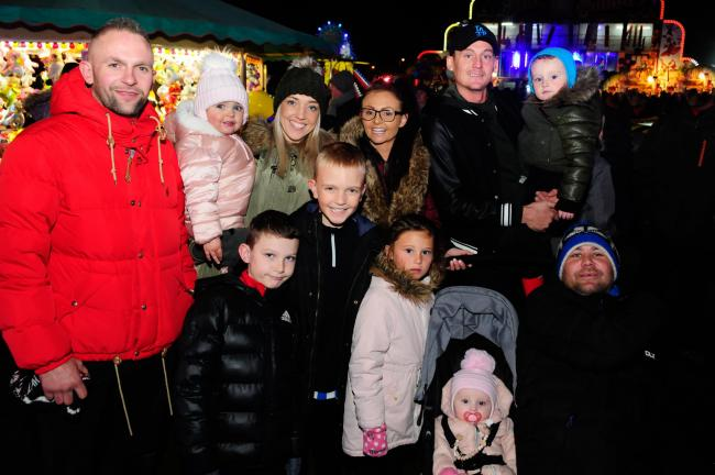 FIREWORK FUN: The Gillon and McIlwraith families from Troon.