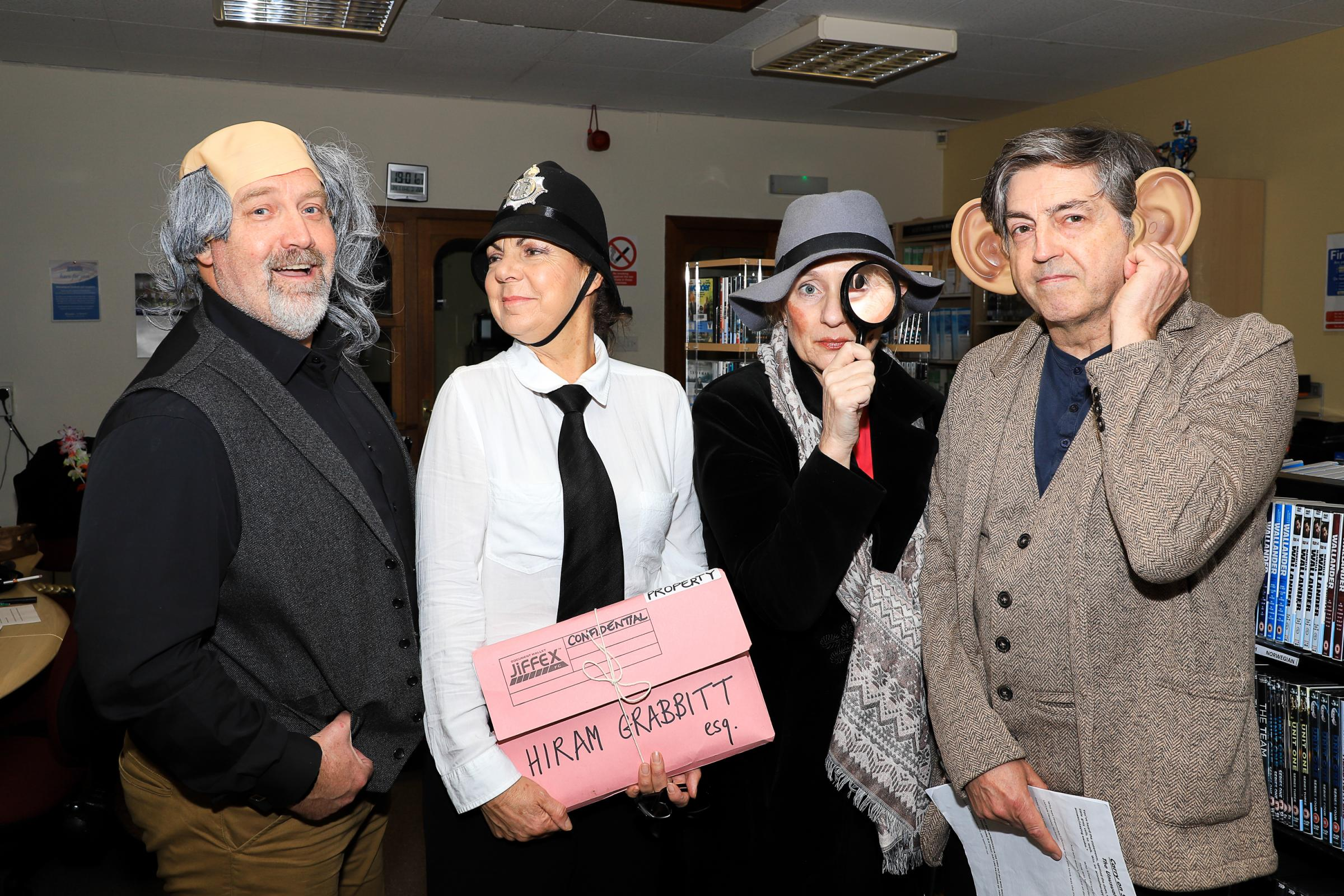 SLEUTHING STARS: Pictured are Michael J Malone, Pat Young, Caro Ramsay and Douglas Skelton.