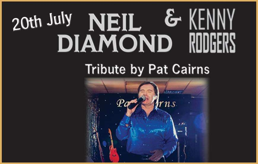 Neil Diamond & Kenny Rodgers by Pat Cairns