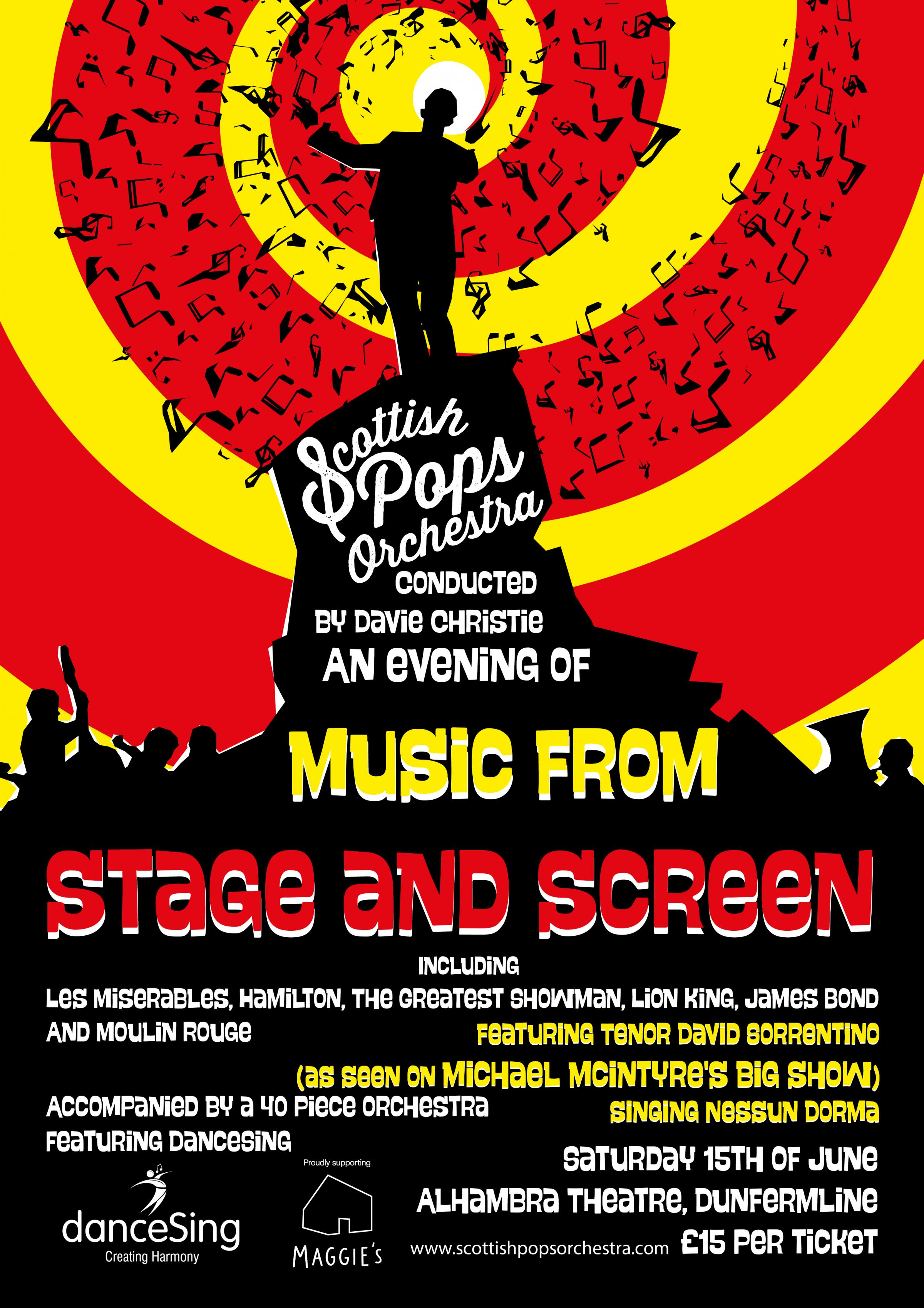 Scottish Pops Orchestra. An Evening of Music from Stage and Screen